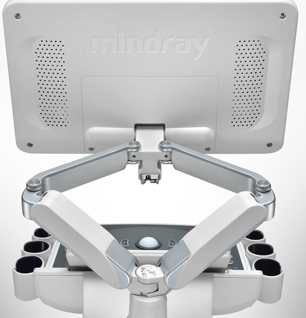 Mindray's unique dual-wing monitor arm delivers seamless movement for unlimited viewing angles and monitor positioning.